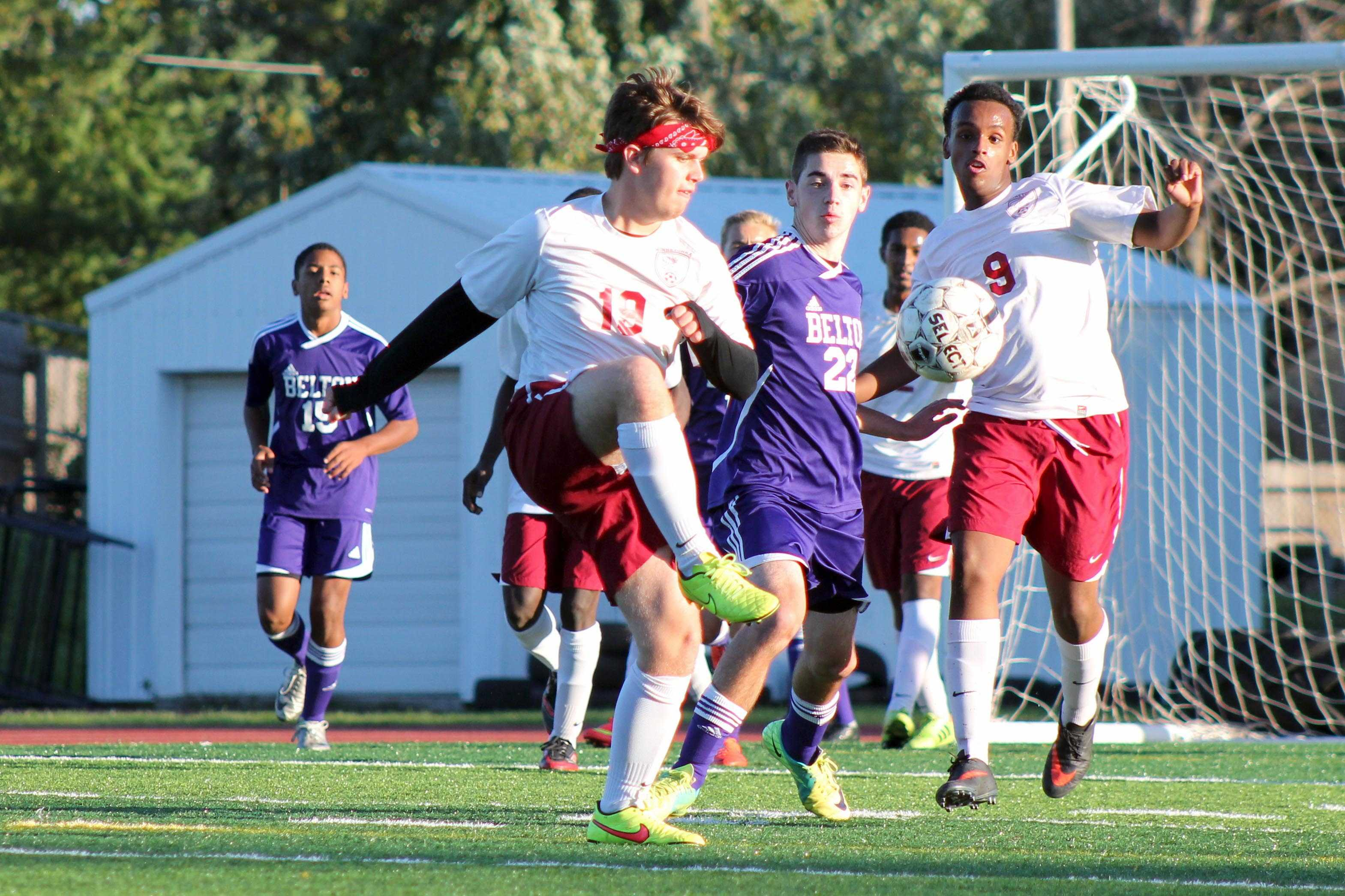 Senior Sadiq Ali focuses hard on the ball during the Belton game October 14. Ali has played soccer for two years now for Winnetonka.