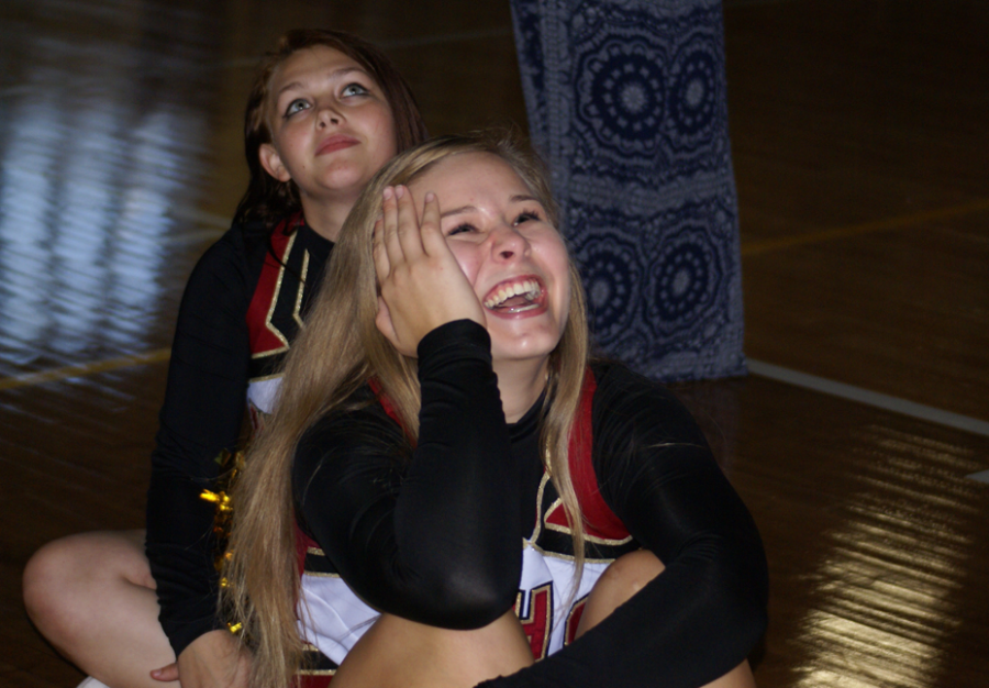 Senior Autum Ladehoff when she found out she was a Homecoming candidate on Sept. 18.