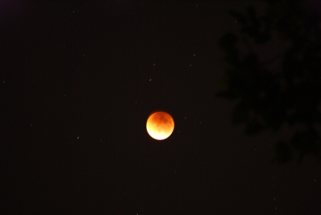 The Super Blood Moon Eclipse at 10:09 on Sunday, Sept. 27.