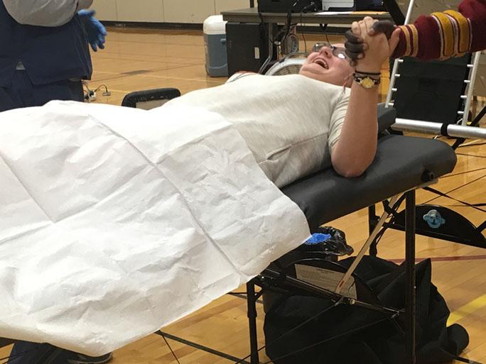 Junior Susan Engstrom at the Winnetonka Blood Drive on Friday, November 13.