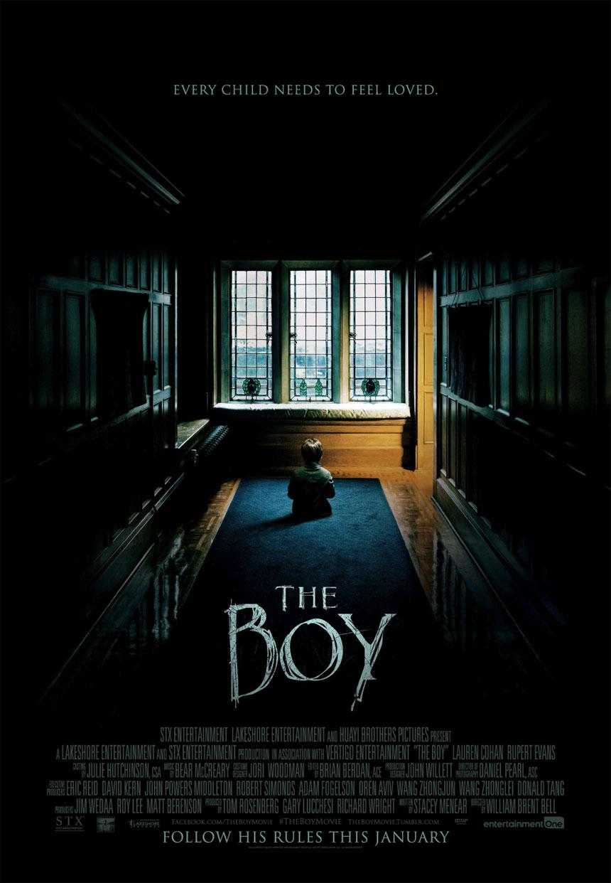 The official movie poster for the The Boy