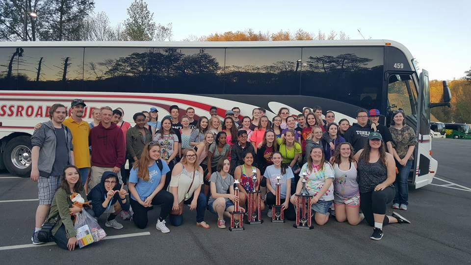 Symphonic and Chamber Orchestras with their four trophies at Dollywood.