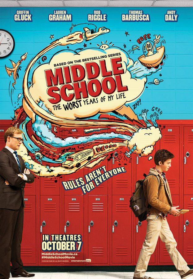 One of the official posters for the movie version of Middle School: The Worst Years of My Life by James Patterson.