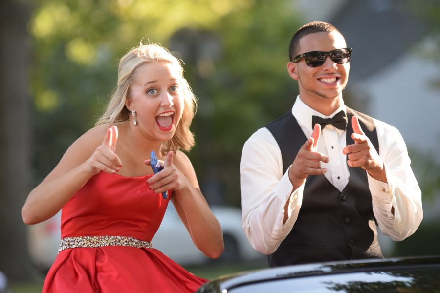 Homecoming candidates  Zoe Goss and Darius Campbell in the homecoming parade on Sept. 23.