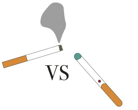 Vaping and E-Cigarettes vs. smoking