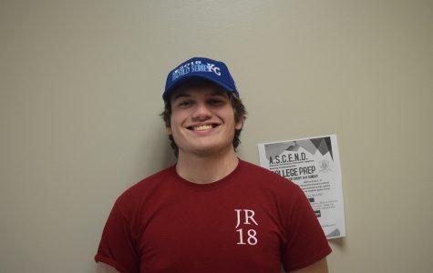 Nate Blanton; senior class president