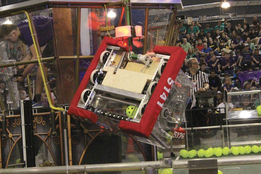 Bubbles participates in the robotics competition.