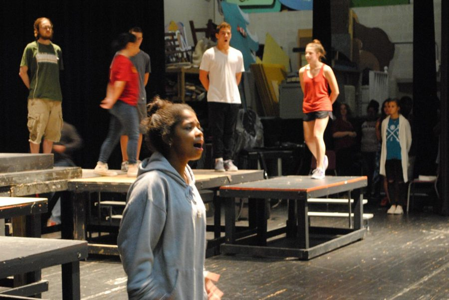 Junior+Julia+Madison+performs+as+%E2%80%9CAida%E2%80%9D%2C+the+title+character+of+the+fall+musical%2C+during+rehearsal+on+Sept.+20.+