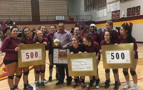 Volleyball coach Mike Espinosa achieves 500th win