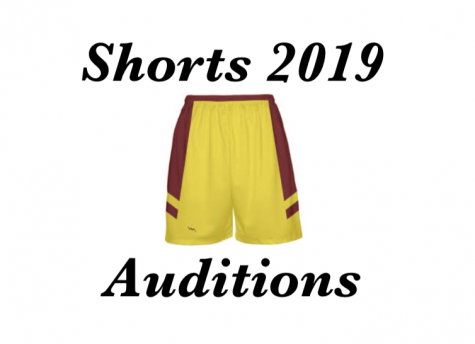 Shorts 2019 auditions after school on Monday Dec. 3, Tuesday Dec. 4