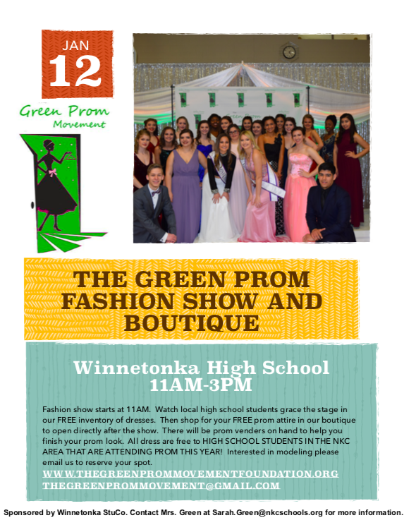 Free prom dresses offered by The Green Dress Foundation, Student Council on Jan. 12