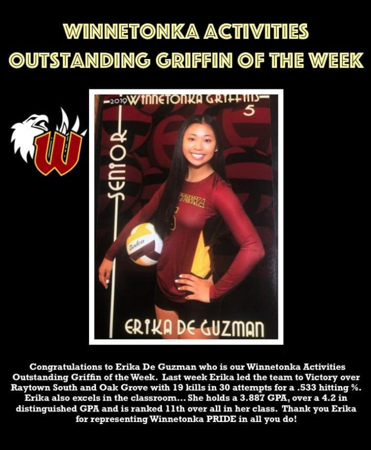Activities Student of the Week: Erika DeGuzman, Sept. 16
