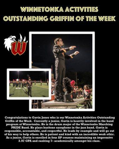 Activities Student of the Week: Gavin Jones, Sept. 9