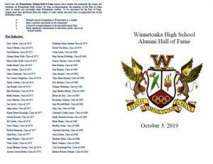 Winnetonka High School Alumni Hall of Fame