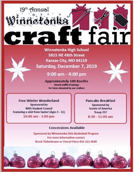 19th Annual Craft Fair; Dec. 7