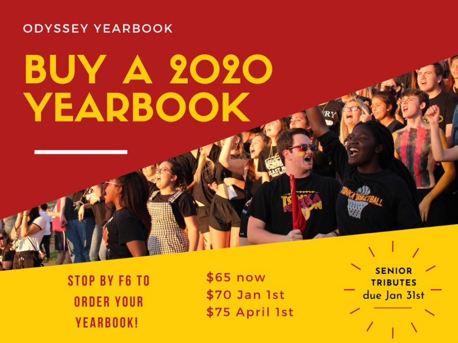 2020 Yearbook selling for $65 until Jan. 1