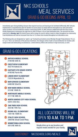 'Grab & Go' meal program begins April 13 at 12 district buildings